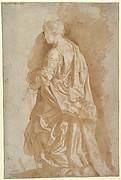Study of a Standing Female Saint