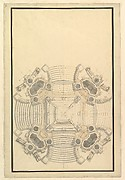 Ground Plan for a Catafalque for the King of Sardinia, Vittorio Amedeo (d.1732)