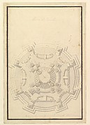 Ground Plan of a Catafalque for Francis Lewis of Newburg, Archshop of Mainz (died Breslau 1732)