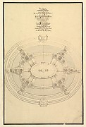 Ground Plan for a Catafalque for Eleonora Magdalena Theresa (6 Jan. 1655 - 19 Jan. 1720)