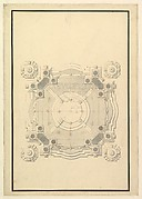 Ground Plan for a Catafalque for Louis, Dauphin of France, d. 1711