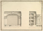 Elevation of Proscenium and Lateral View