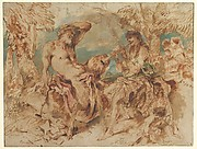 Youth Playing a Pipe for a Satyr