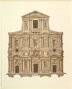 Drawing for Buontalenti's Model for the Facade of S. Maria del Fiore of Florence