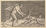 Speculum Romanae Magnificentiae: Naked Man Pursuing a Naiad