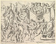 Speculum Romanae Magnificentiae: Roman Soldiers Fortifying their Camp, from Trajan's Column
