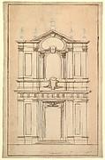 Design for the Façade of Santi Faustino e Giovita, Rome