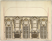 Design for the Salon of the Pleasure Pavilion, Favorita, at Ludwigsburg, 1718