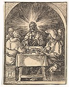 Christ and the Pilgrims at Emmaus from The Little Passion (copy)