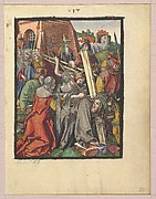 The Bearing of the Cross, from the Small Woodcut Passion