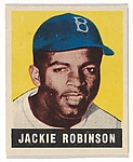 Jackie Robinson, Brooklyn Dodgers, from Baseball&#39;s Greatest Stars (R401-1), no. 79