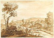 Landscape with a Town by a River