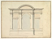 Elevation of Wall Decoration in the Villa Medici