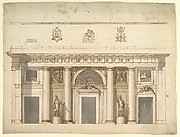 Elevation for a Portico of Doric Order