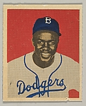 Jackie Robinson, Second Base, Brooklyn Dodgers, from a series of 240 (no. 50)