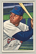 Luke Easter, First Base, Cleveland Indians, from Picture Cards, series 6 (R406-6), issued in 1952 by Bowman Gum