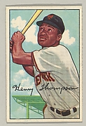 Henry Thompson, Outfield, New York Giants, from the series Picture Cards, series 6 (R406-6), issued by Bowman Gum.
