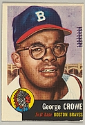 Card Number 3, George D. Crowe, First Base, Boston Braves, from the series Topps Dugout Quiz (R414-7), issued by Topps Chewing Gum Company