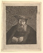 Old Man with Beard and Flat Cap, after Rembrandt