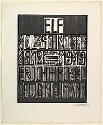 Title Page for Porfolio of J.B. Neumann (Titelblatt der Erich Heckel - Mappe Des Verlages J.B. Neumann, Berlin)