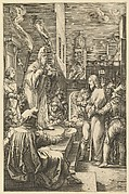 Christ Before Caiaphus, from The Passion of Christ (after H. Goltzius)