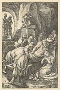 The Entombment, from The Passion of Christ (after H. Goltzius)