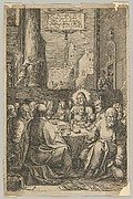 The Last Supper, from The Passion of Christ, plate 1 (title page)