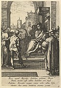 Christ Before Pilate, from The Passion of Christ (after H. Goltzius)
