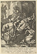 The Entombment of Christ, from The Passion of Christ (after H. Goltzius)