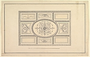 Design for Ceiling at Kirtlington Park, Oxfordshire