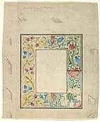 Embroidery Design for a Frame, No. 098