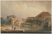 Riverside Scene (Old Mill)