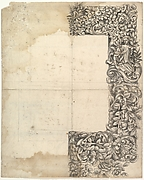 Design for a Carved Mirror Frame (right side only)