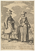 Adolescentis Angli et Iuvenculae Habitus, from Fashions of Different Nations