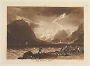 Lake of Thun, Swiss, from Liber Studiorum, part III