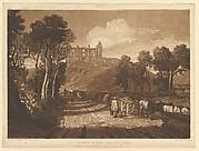 St. Catharine's Hill near Guilford (Liber Studiorum, part VII, plate 33)