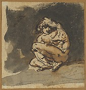 Study of a Male Nude (Althaemenes) Trying to Hide Himself