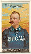 Cap Anson, 1st Base, Chicago, from the Goodwin Champion series for Old Judge and Gypsy Queen Cigarettes