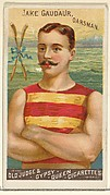 Jake Gaudaur, Oarsman, from the Goodwin Champion series for Old Judge and Gypsy Queen Cigarettes
