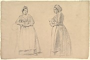 Two Studies of a Woman in Peasant Costume