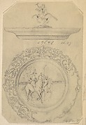 Design for a Covered Silver Dish with Polo Player Ornament