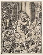 Christ Driving the Money Changers from the Temple, from The Fall and Salvation of Manking through the Life and Passion of Christ