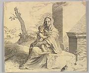 Virgin and Child Seated on a Rock (Vierge &#224; l&amp;#39;Enfant dans des ruines)