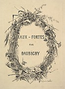 "Wreath of Wildflowers, title for ""Eaux-Fortes par Daubigny"""
