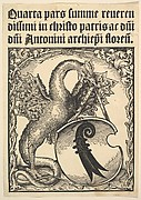 Basilisk Supporting the Arms of the city of Basel