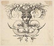 Tail-piece: Woman's Head (Cul-de-lampe: Buste de femme)
