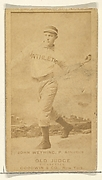 John Weyhing, Pitcher, Philadelphia Athletics, from the Old Judge series (N172) for Old Judge Cigarettes