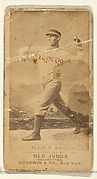 Blair, Pitcher, Philadelphia Athletics, from the Old Judge series (N172) for Old Judge Cigarettes