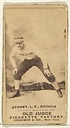 Stovey, Left Field, Philadelphia Athletics, from the Old Judge series (N172) for Old Judge Cigarettes