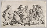 Five Boys and a Satyr (Putti at Play)